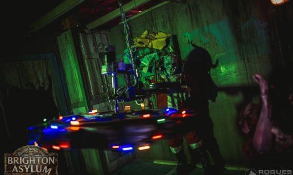 spinning round dark